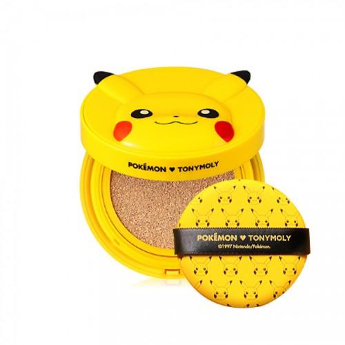 ВВ кушон с солнцезащитным эффектом Tony Moly Pikachu bb cushion 12g spf50+ pa+++