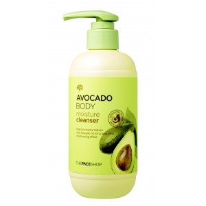 Гель для душа с авокадо The Face Shop Avocado body moisture cleanser 300ml
