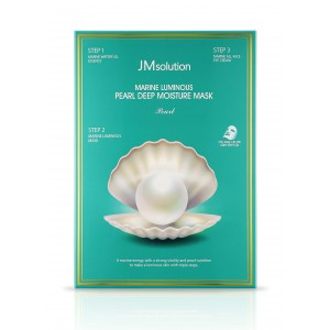 Увлажняющая маска с жемчугом Jm Solution Marine luminous pearl deep moisture mask pearl 30ml*10шт