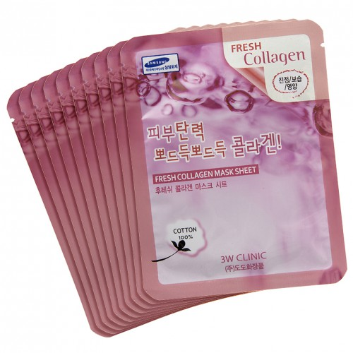 3W CLINIC Fresh mask sheet [Collagen] X10sheet