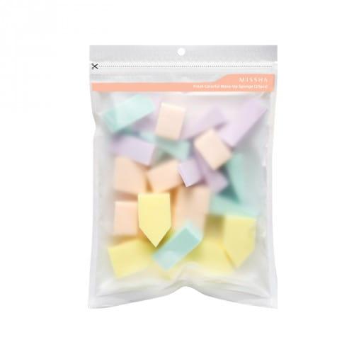 Спонжи для нанесения тональных средств Missha Fresh Colorful Make-up Sponge (25pcs)