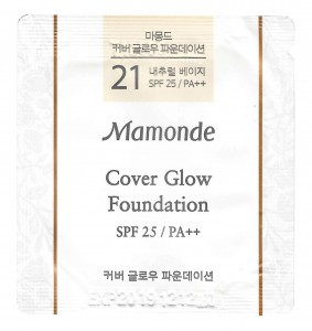 MAMONDE Cover Glow Foundation 21 Natural Beige SPF25/PA++ 1ml*10ea