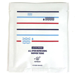 ETUDE HOUSE Active Proof All Over Refreshing Shower Tissue 1ea