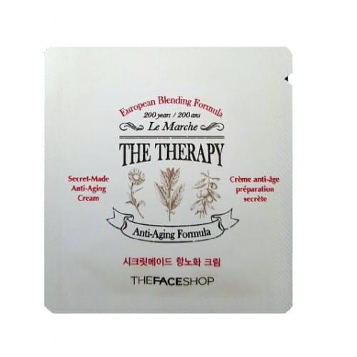 Антивозрастной крем с ферментированными растительными экстрактами The Face Shop The therapy secret-made anti-aging cream 1ml*10ea
