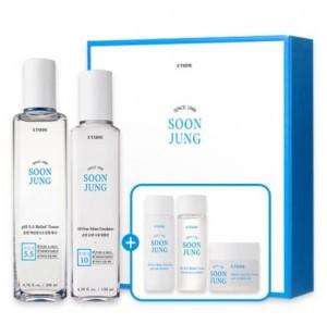 Ухаживающий комплект для мужской кожи с чёрной икрой Enprani Super black caviar for men 2item set