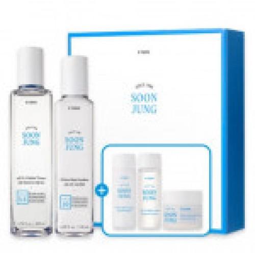 Комплект средств с чёрной икрой для ухода за кожей лица Enprani Super black caviar 3item set