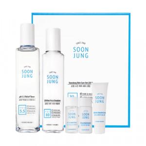 ETUDE HOUSE SoonJung Skincare set 180ml+120ml+15ml+15ml+7ml