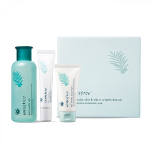 INNISFREE Bija Trouble Skin & Bija Cica Balm Duo Set 200ml+40ml+50ml