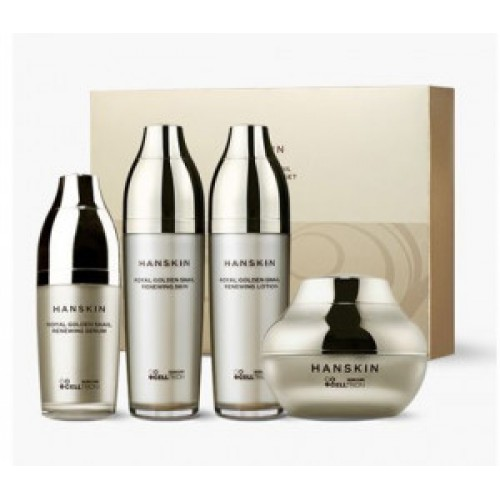 HANSKIN Royal Golden snail renewing skin care set