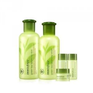 Сет с экстрактом зеленого чая Innisfree Green tea balancing skin care set 5 items