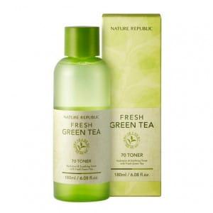 Успокаивающий тонер с чайным деревом NATURE REPUBLIC Fresh Green Tea 70 Toner 180ml