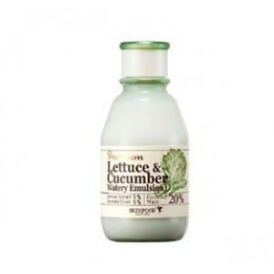 Успокаивающая эмульсия с экстрактом листьев салата и огурца Skinfood Premium lettuce & cucumber watery emlusion 140ml