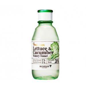 Успокаивающий тонер с экстрактом листьев салата и огурца Skinfood Premium lettuce & cucumber watery toner 180ml