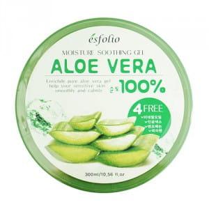 Смягчающий и увлажняющий гель для тела с алое вера ESFOLIO Moisture Soothing Gel Aloe Vera 100% 300ml