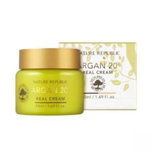Крем с антивозрастным эффектом и аргановым  маслом Nature Republic Argan 20˚ Real Cream 50ml