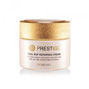 Восстанавливающий крем для кожи Secret Key Snail+egf prestige cream 50g