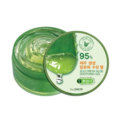 Смягчающий гель для лица с алоэ The Saem Jeju Fresh Aloe Soothing Gel 300ml
