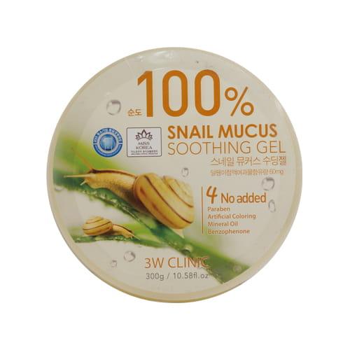 Тонизирующий гель с экстрактом слизи улитки для лица и тела 3W CLINIC Snail Mucus Soothing Gel 300g