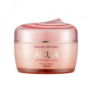 Увлажняющий крем для лица Nature Republic Super aqua max moisture watery cream 80ml (PINK)