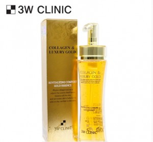 3W CLINIC Collagen & Luxury Gold Revitalizing Comfort Gold Essence 150ml