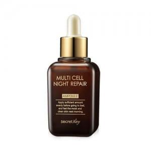 Ночная эссенция для восстановления кожи Secret Key Multi Cell Night Repair Ampoule 50ml