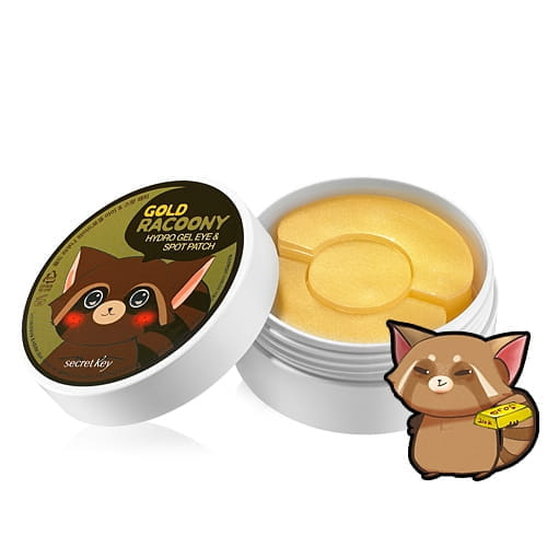 Патчи для уставшей кожи век Secretkey Gold racoony hydro gel eye (60ea) + spot trouble patch(30ea)