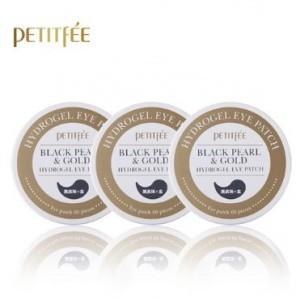 Патчи для кожи вокруг глаз с черным жемчугом Petitfee Black pearl  & gold yye patch 60cts *3ea
