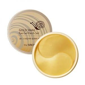 Улиточные маски под глаза The Saem Gold Snail Eye Gel Patch Set 100g
