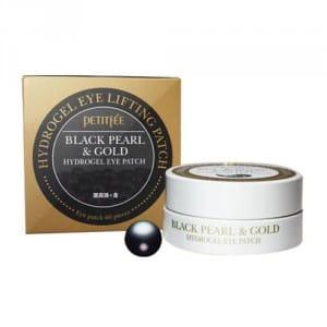 Лифтинг-маска для кожи вокруг глаз Petitfee Black Pearl & Gold Eye Patch 60cts