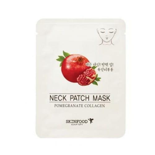 Маска-пластырь с экстрактом граната для шеи Skinfood Pomegranate Collagen Neck patch mask