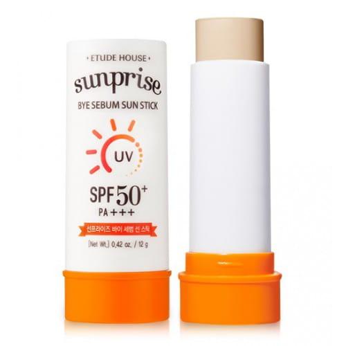 Солнцезащитный стик для жирной кожи Etude House Sunprise bye sebum sun stick SPF 50+ PA+++ 12g