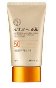 Увлажняющий матирующий крем с УФ фильтрами The Face Shop Natural sun eco power long-lasting sun cream spf50+ pa+++ 50ml