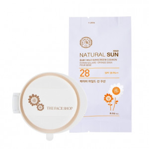 THE FACE SHOP Natural Sun Eco Baby Mild Sun Cushion Refill SPF30 PA++ 15g
