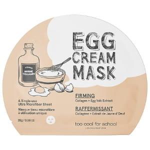 Тканевая яичная маска для лица Too Cool For School Egg cream mask - firming 28g