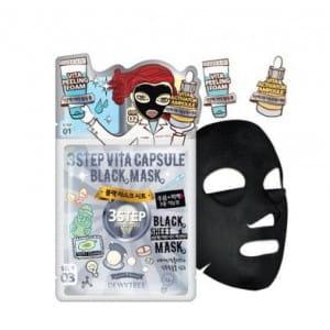 DEWYTREE 3 Step Vita Capsule Black mask [25g/10ea]