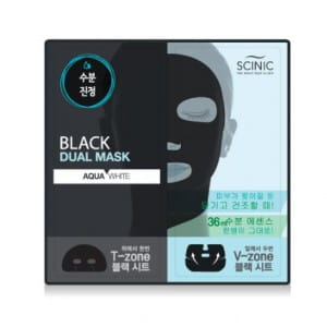 SCINIC Black Dual Mask [AQUA WHITE]