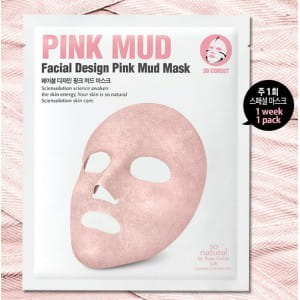 SO NATURAL Pink Mud facial design pink mud mask