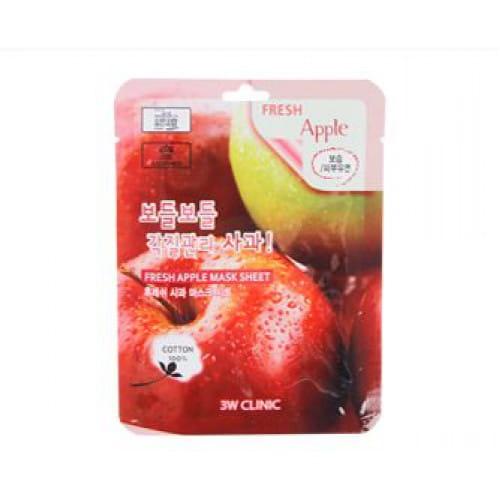 Тканевая листовая маска для лица с экстрактом яблока 3w Clinic Fresh mask sheet [apple] x10sheet