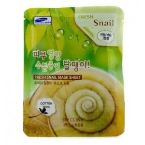 Тканевая маска для кожи лица с фильтратом муцина улитки Clinic Fresh mask sheet [snail] X10sheet