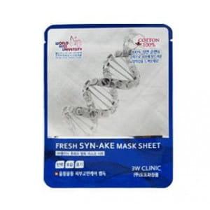 Антивозрастная тканевая маска со змеиным ядом 3w Clinic Fresh mask sheet [syn-ake] x10sheet
