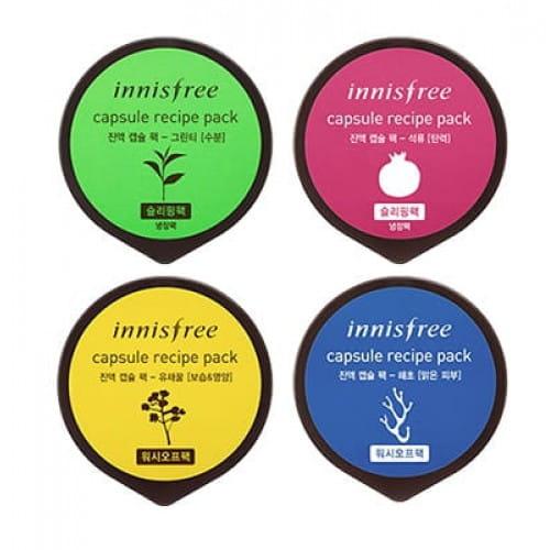 Серия капсулированных масок  Innisfree Capsule Recipe Pack 10ml