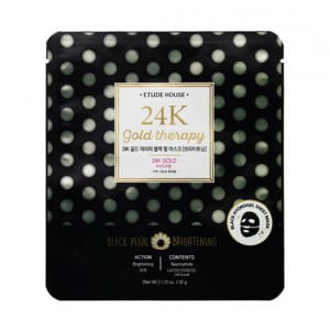 ETUDE HOUSE 24K Gold therapy Black Pearl mask [Brightening]