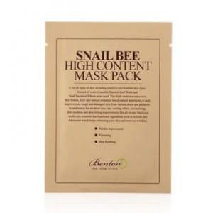 Улиточная  листовая маска для лица Benton Snail Bee High Content Mask Pack 20g
