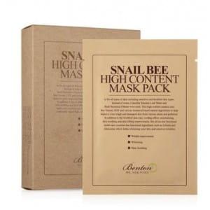 Маска с улиточным секретом  BENTON Snail Bee High Content Mask Pack 20g_10sheet
