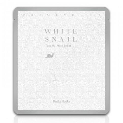 Маска с улиточным секретом  HOLIKAHOLIKA Prime Youth White Snail Tone-Up Mask 30g