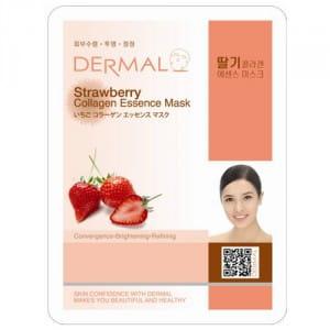 Тканевая маска с коллагеном и клубникой Dermal Strawberry collagen essence mask 23g