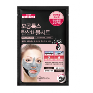 Очищающая маска с содой для кожи лица Mediheal Pore tox soda bubble sheet mask (10pcs)