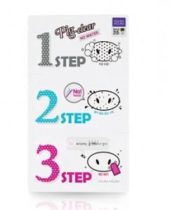 HOLIKAHOLIKA Pig Clear Black Head 3-STEP Kit No Water 1ea