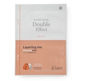 MAKEPREM Layering Me. Whitening Mask (1+1)