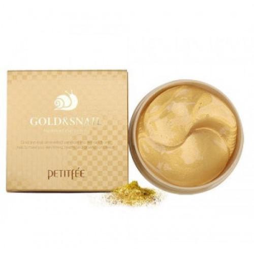Обновляющие гидрогелевые патчи для кожи век Petitfee Gold & snail hydrogel eye patch